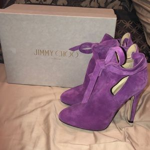 Jimmy Choo Size 36 Marina cut out suede booties